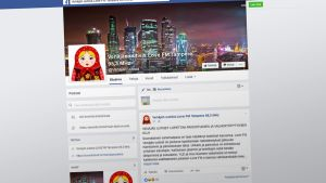 Venäjän uutisia -Facebook-sivu.
