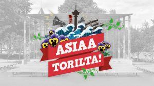Asiaa torilta! -tapahtuman logo