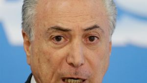 Brasilian virkaatekevä presidentti Michel Temer.