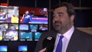 Olympic Broadcasting Servicesin toimitusjohtaja Yannis Exarchos