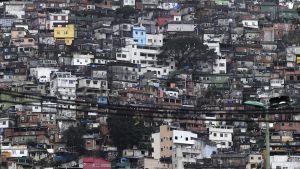Rocinhan favela Rio de Janeirossa 3. elokuuta.