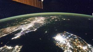 Pohjois-Korea NASAn satelliitin kuvaamana.