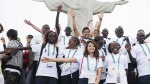 Pakolaisurheilijoiden Olympiajoukkue Riossa.