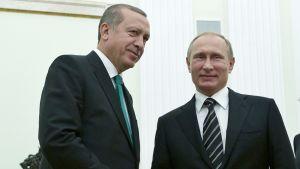 Vladimir Putin ja Recep Tayyip Erdoğan.
