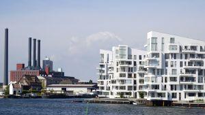 Asuinkerrostaloja Köpenhaminassa