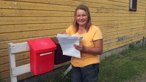 Tanja Kunnari postilaatikolla.