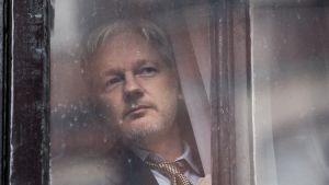 Julian Assange Ecuadorin Lontoon-suurlähetystössä helmikuussa 2016.