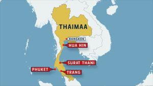 Thaimaan kartta