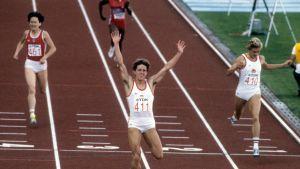 Jarmila Kratochvilova Helsingin MM-kilpailuissa 1983.
