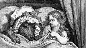 Gustave Dorén kuvitusta Punahilkka-satuun