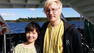 Bloggaripariskunta Aoi Hayakawa ja Aleksi Saariranta