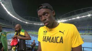 Usain Bolt haastattelussa