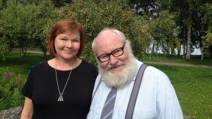 Sylvi Symposiumin järjestäjät, läänintaiteilija Susanna Kolehmainen ja kulttuurituottaja Ilkka Seppä.