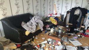 Lahtelaisen Matti Huomon asunnon tuhosi huumeiden käyttäjä.