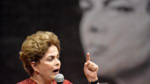 Brasilian väliaikaisesti virasta pidätetty presidentti Dilma Rousseff
