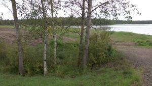 Maanläjityspaikka Salmijärven rannalla.