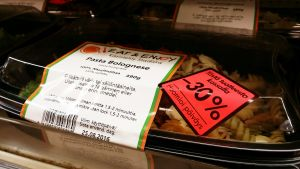 30 prosentin alennustarra Pasta Bolognese -valmisateriassa.