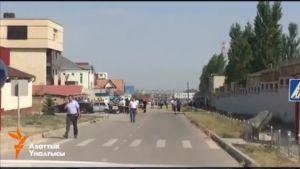 Somessa levitetty kuva Kirgisian itsemurhapommi-iskusta