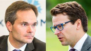 Kuvakollaasi, jossa Kai Mykkänen (vas.), sekä Ville Niinistö.