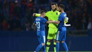 Samir Ujkani oli Kosovon maalilla jo harjoitusottelussa Färsaaria vastaan.