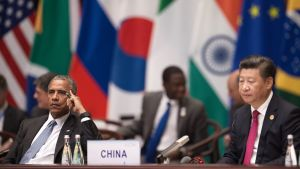 Brack Obama ja Xi Jinping G20-kokouksessa 4. syyskuuta.