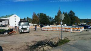 katuremontti Yliopistonkatu Rovaniemi syyskuu 2016