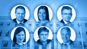 Pormestarikisan ehdokkaita.