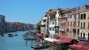 Venetsian kaunis Canal Grande.