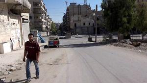 Katunäkymä Aleppossa tiistaina.