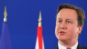 Britannian pääministeri David Cameron vuonna 2011 Brysselissä Libya-konferenssissa.