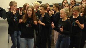 Vox Aurea harjoituksissa.