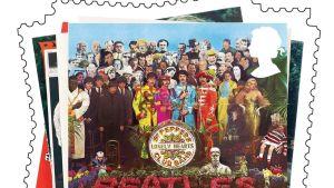 The Beatles postimerkkikollaasi.
