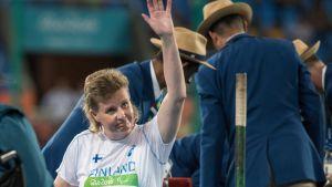 Marjaana Heikkinen Rion paralympialaisissa.