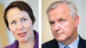 Suvi-Anne Siimes ja Olli Rehn.