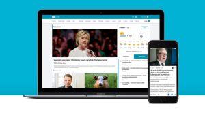 yle.fi/uutiset ja Uutisvahti-sovellus avoinna tietokoneen ja puhelimen näytöillä