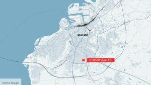 Malmön kartta.