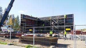 Kuukanniemen uusi koulu rakenteilla