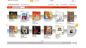 Kuvakaappaus Lapin e-kirjaston etusivusta.