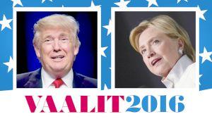 Yhdysvaltain presidentinvaalien logo Ylellä