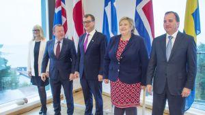 Pohjoismaiden pääministerit tapasivat Ahvenanmaalla. Kuva on otettu 28. syyskuuta.