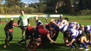 Kuva naisten rugbyfinaalista.