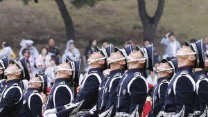 Etelä-Korean puolustusvoimien 68-vuotisjuhlallisuuksia Gyeryongssa 1. lokakuuta.