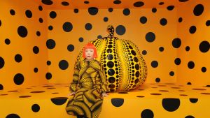 Kusama with PUMPKIN at Aichi Triennale 2010.