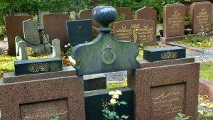 Hietaniemen vanha islamilainen hautausmaa.