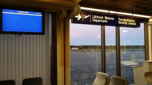 Porin lentokentältä ei noussut koneita enää 5.10.2016.