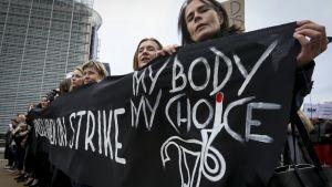 Mielenosoitus Brysselissä.