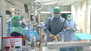 Katetriläppätoimenpide eli TAVI-leikkaus Tyksissä lokakuussa 2016