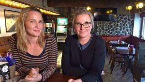 Anna Sirén ja Katri Rauska Pispalan Pulterissa