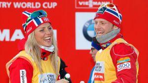 Seka Therese Johaug että Martin Johnsrud Sundby ovat antaneet positiivisen dopingnäytteen.