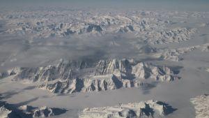 Jäävuoria Grönlannissa.